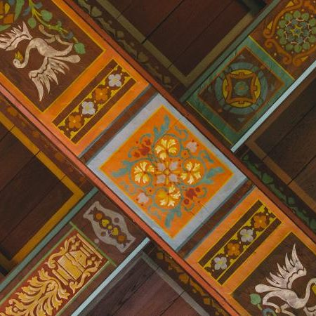 Hand Painted Ceiling at The Lodge at Wakulla Springs